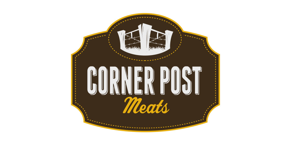 Corner Post Meats Logo Design